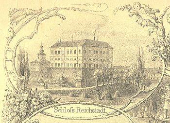 zámek Zákupy 1853